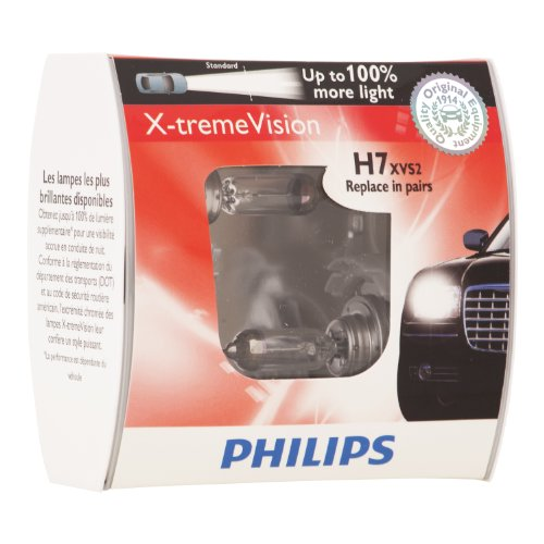 Philips H7 X-tremeVision Upgrade Headlight Bulb (Pack of 2)