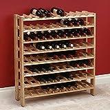 Vancouver Classics Birch Wood 40 Bottle Wine Rack