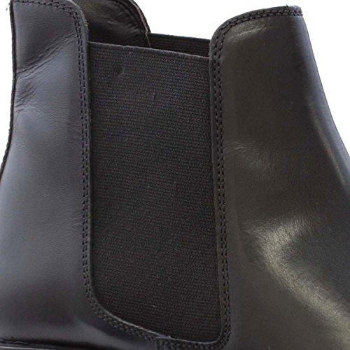 George Oliver Mens Black Leather Chelsea Boot Black G8R5XCdp