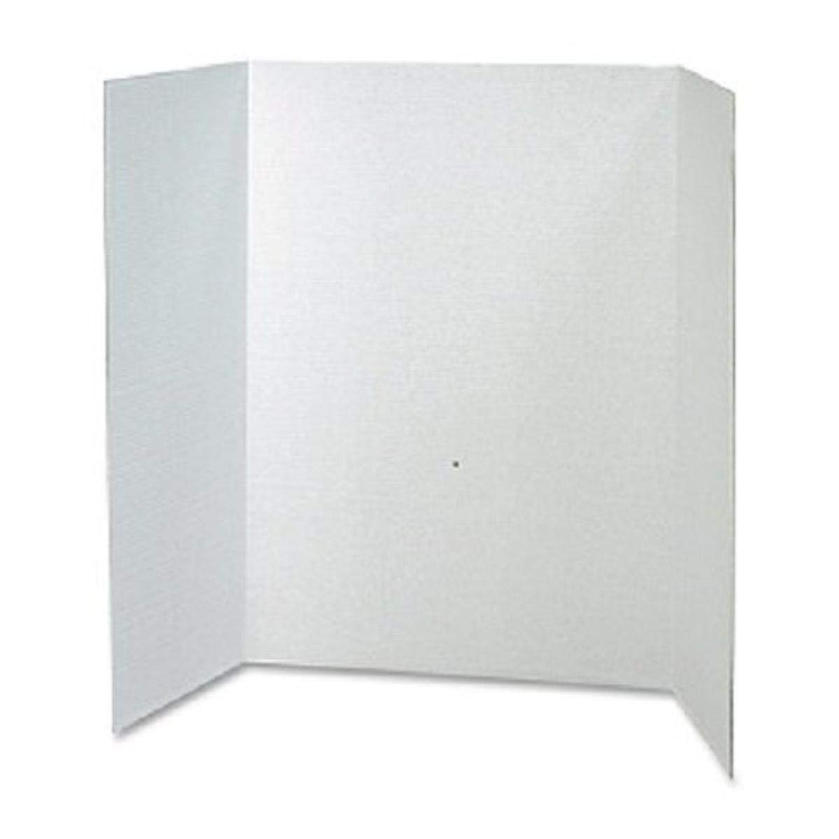 "RiteCo 22128 Tri-fold Display/Presentation Boards, 40""x28"", White, (Pack of 30)"