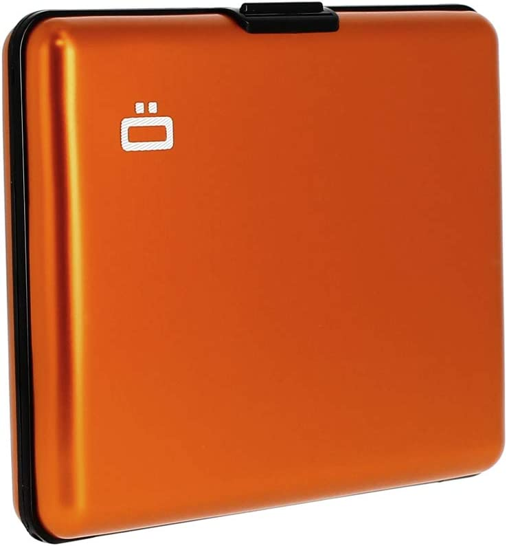 Up to 10 Cards and ID Documents Big Stockholm Card Holder /Ögon Smart Wallets Red RFID Blocking Wallet Anodised Aluminium
