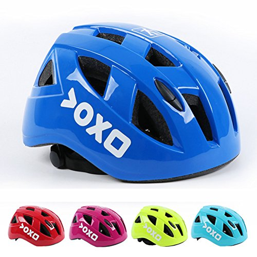 Kids/Teenager Roller Skating Bicycle Helmet Family Cycling Safety Breathable Bike Helmet Adjustable Children Safety Protection for Girls And Boys By Kolodo (Dark blue, M(20.4