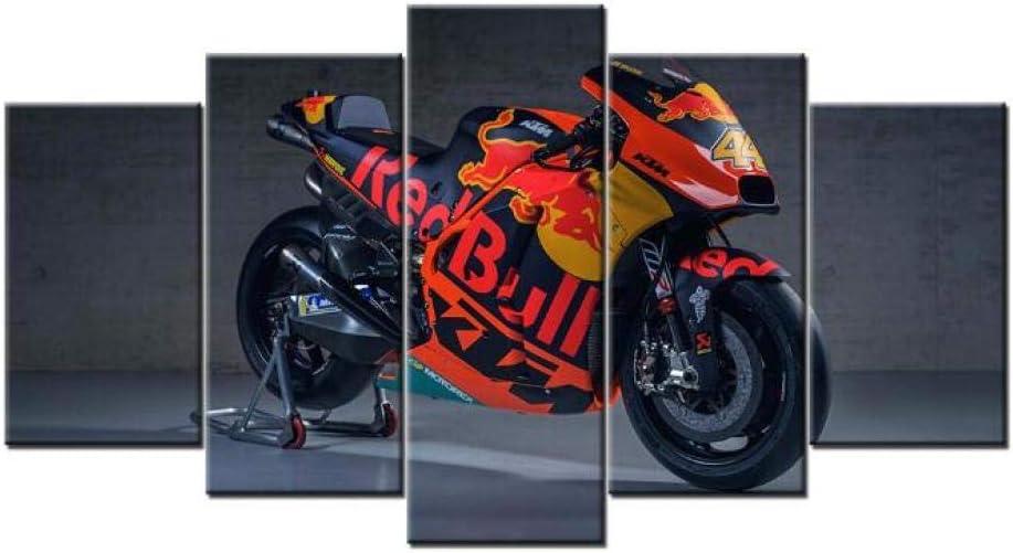 Wall Art 5 Pieces KTM Race Motorcycle Canvas Wall Art Hd Prints Home Decor (Size 3) Frameless