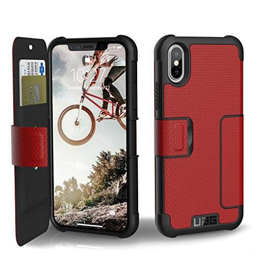 UAG Folio iPhone X Metropolis Feather-Light Rugged [MAGMA] Military Drop Tested iPhone Case