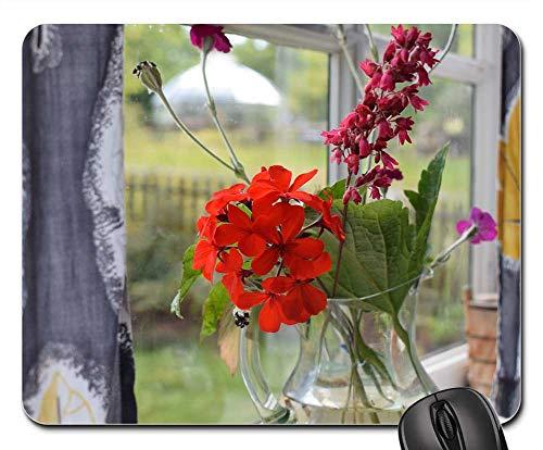 Mouse Pad - Bouquet Flowers Flower Leaf Colorful -