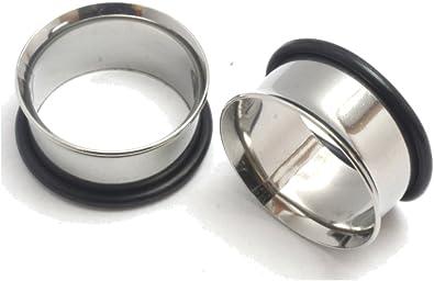Titanium Single Flare Tunnel Plugs 19mm Pair of 3//4 Gauge