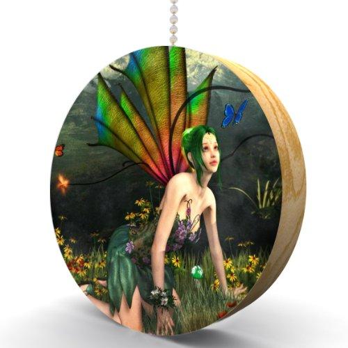 Garden Fairy Hardwood Oak Fan / Light Pull