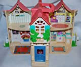 Vintage Fisher Price Doll Houses with Pink Roof *Used Toy*