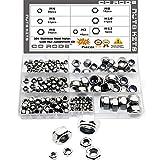CO RODE 171-Pieces Stainless Steel Nylon Lock Nut Assortment Kit - M3 M4 M5 M6 M8 M10 M12