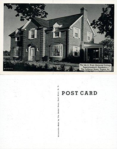 TOPTON PA LUTHERAN HOME IDA KRUM MEMORIAL COTTAGE VINTAGE POSTCARD ()