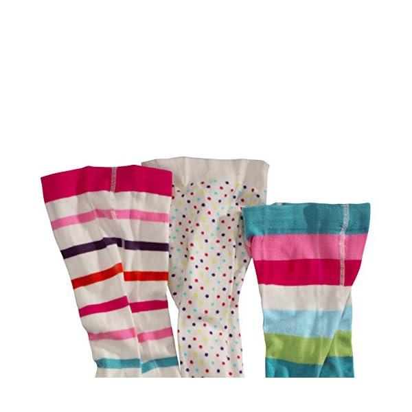 WELLYOU, collant per bambini per bambina, set di 3, calzamaglia ecru, cotone alta quota, taglia 62-146 2