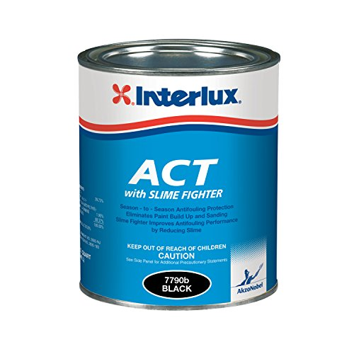 (Interlux Y7790U/QT ACT Antifouling Paint (Black, Quart), 32. Fluid_Ounces )
