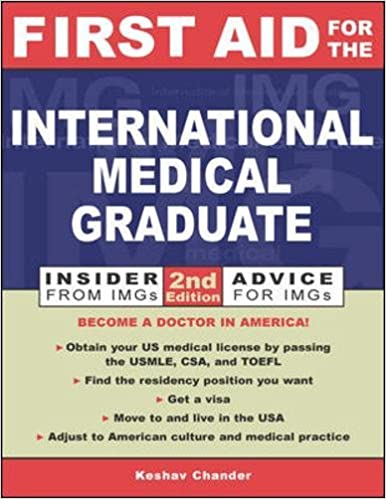 Kết quả hình ảnh cho First Aid for the International Medical Graduate – 2nd edition