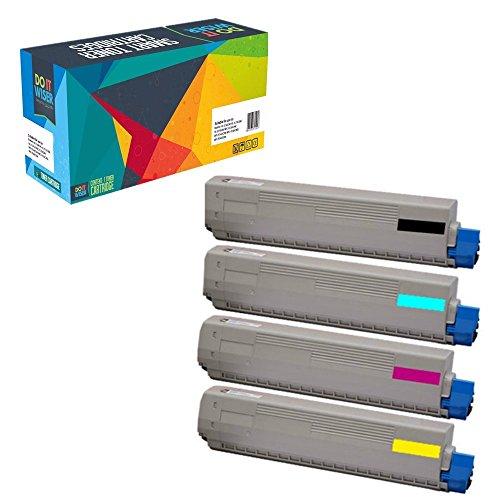 Do it Wiser Compatible Toner Cartridges For Oki Okidata C6100 C6100N C6100DN C6100DTN C6100HDN C6150 C5550MFP C5550NMFP MC560MFP - 43324420 43324419 43324418 (43324419 Laser)