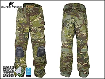 7042d9a5472d7 Men Airsoft Hunting Combat bdu Toursers Gen3 Tactical Pants with Knee Pad  Multicam-TP (