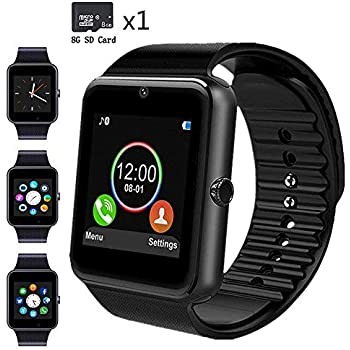 Amazon.com: Qiufeng GT08 Smart Watch Smartwatch Bluetooth ...