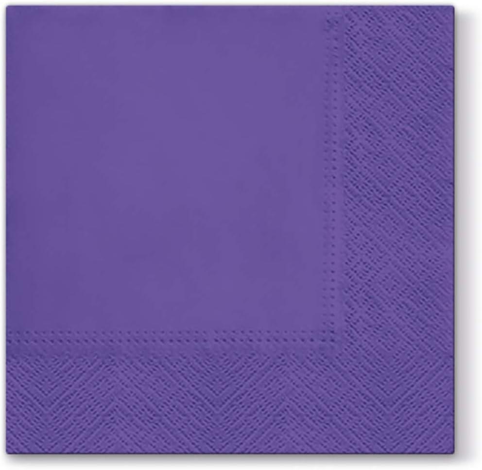 Yellow Paper Napkins Quality Decorative Serviettes 3ply 33cm x 33cm Pack of 20