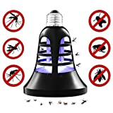 Siuyiu Mosquito Trap Killer Insect Bug Electric Fly Zapper Bulb Indoor/Outdoor UV and LED Lamp | 2-in-1 Night Light | Screw-In Design | 200 Sq. Ft. Protection | Patio, Porch, Deck Use