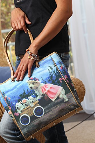 Handtasche: Westie- West Highland White Terrier- Tasche- Schultertasche