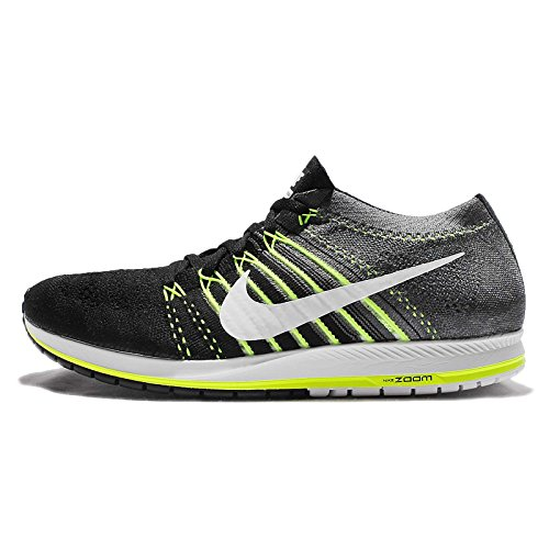 nike Flyknit Streak Mens Running Trainers 835994 Sneakers Shoes (US 8, black white dark grey volt 001)
