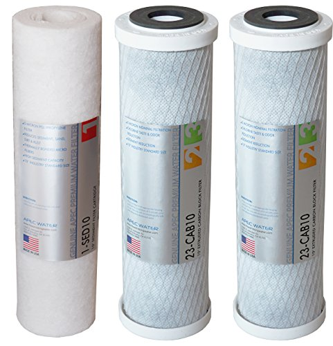 APEC FILTER-SET US MADE Double Capacity Replacement Pre-Filter Set For ULTIMATE Series Reverse Osmosis Water Filter System Stage 1, 2&3 by APEC Water Systems