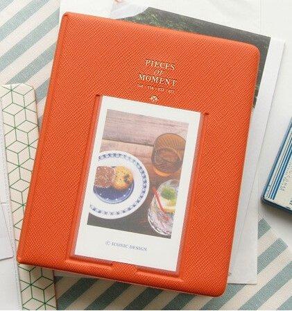 DierCosy 64 Pockets Mini Album Case Storage Polaroid Photo FujiFilm Instax Film Size (Orange)