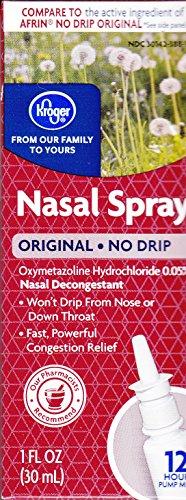 Kroger Nasal Spray No Drip  Oxymetazoline Hcl 0 05   1 Fl Oz  Compare To Active Ingredient Of Afrin No Drip Original