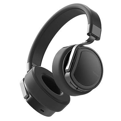 Auriculares Bluetooth, Bluetooth 4.1 Over The Head Auriculares inalámbricos recargables Micrófono, Cancelación de ruido