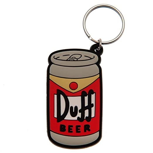 The Simpsons Duff Beer Keyring (One Size) (Multi-color) at ...