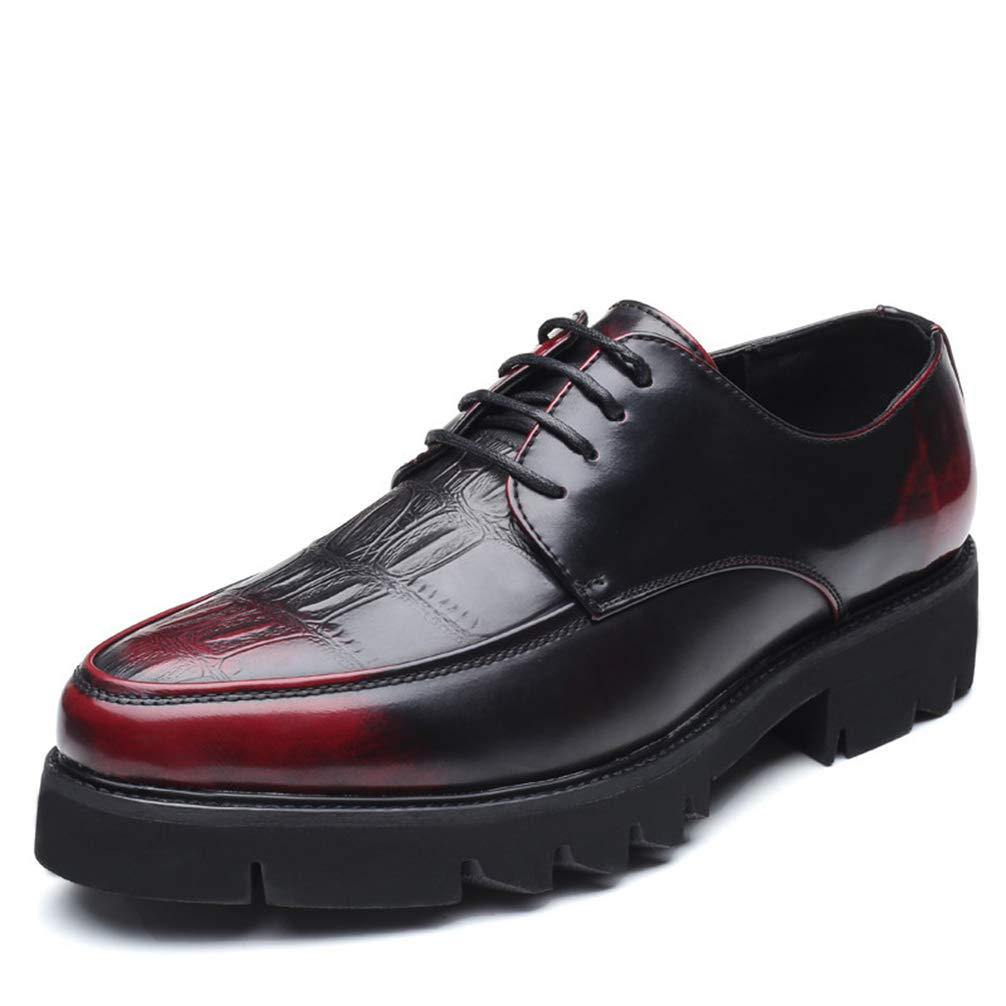 Phil Betty Men Oxford Shoes Black Brown Round Toe Fashion Business Dress Brogue Shoes