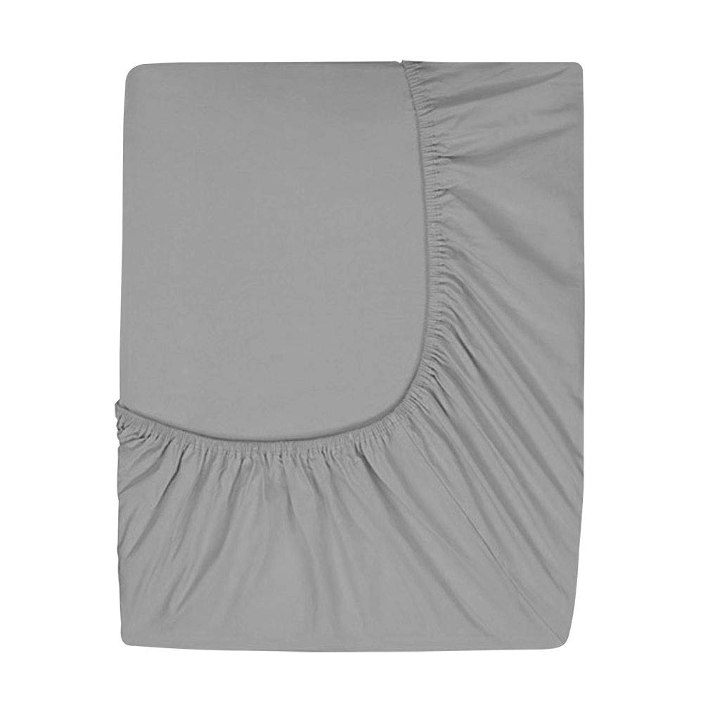 Prime Deep Pocket Fitted Sheet - Brushed Velvety Microfiber - Breathable, Extra Soft and Comfortable - Winkle, Fade, Stain Resistant (Iron, Queen)