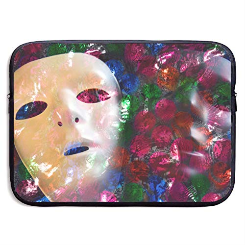 13 Inch Laptop Sleeve Computer Case Two Faces Masks Soft Neoprene Laptop Bag MacBook Air/Pro Bag ()