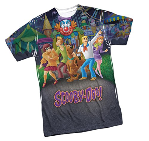 Amusement Park -- Scooby Doo Front Print Sports Fabric T-Shirt, Small
