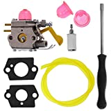 Anxingo Carburetor for Poulan Weed Eater Featherlite SST25C TE475Y TE475 XT260 XT700 Trimmer 530-071752 530-071822 with Adjustment Tool Kit Screwdriver
