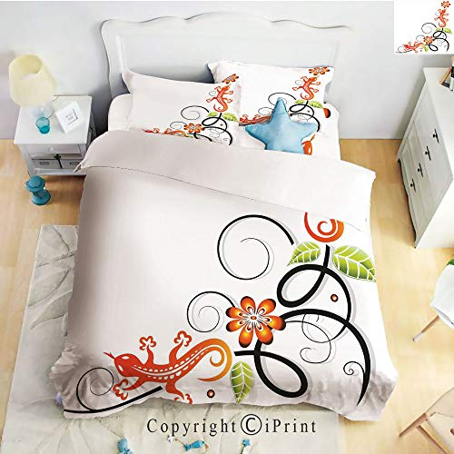 Homenon Bedding 4 Piece Sheet,Small Baby Lizard Flowers for sale  Delivered anywhere in Canada