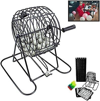 Deluxe alambre jaula bolas de juego de Bingo tarjetas juego de ...