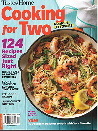 Magazine Home Cooking Taste - Taste Of Home Cooking for Two Magazine 2019