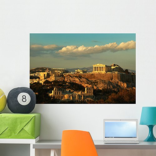 Wallmonkeys FOT-3077237-36 WM29600 Acropolis Athens Peel and Stick Wall Decals (36 in W x 24 in H), Large