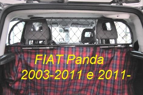Dog Guard, Pet Barrier Net and Screen RDA65-XS for FIAT Panda, car model produced from 2003 to 2011 and since 2011, for Luggage and Pets