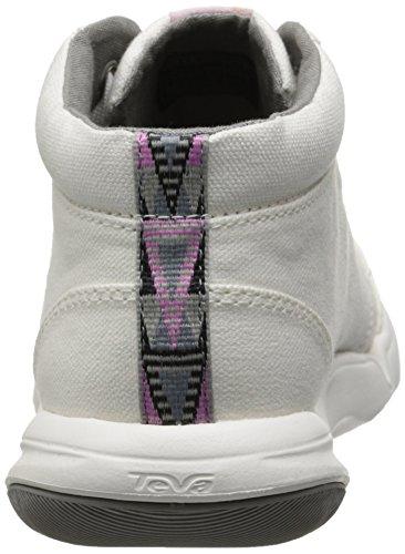 Teva Canvas Women's Mid Wander top White Shoe q1AR8wq