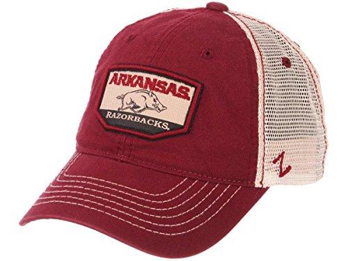 - Arkansas Razorbacks Zephyr Red Trademark Mesh Adj. Snapback Slouch Hat Cap
