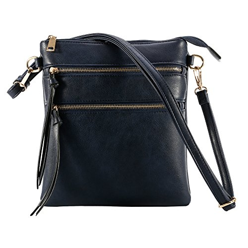 Zip Theft Multi for Anti for Crossbody XY Bags Cross Fancy Pocket Bags Blue Deep Women Large Bag Women Crossbody Shoulder wO7RF0qp