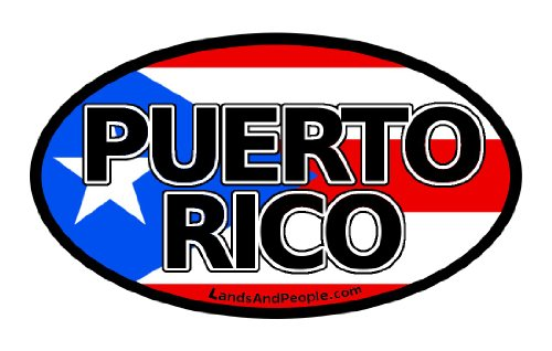 o Rico Flag Car Bumper Sticker Decal Oval ()