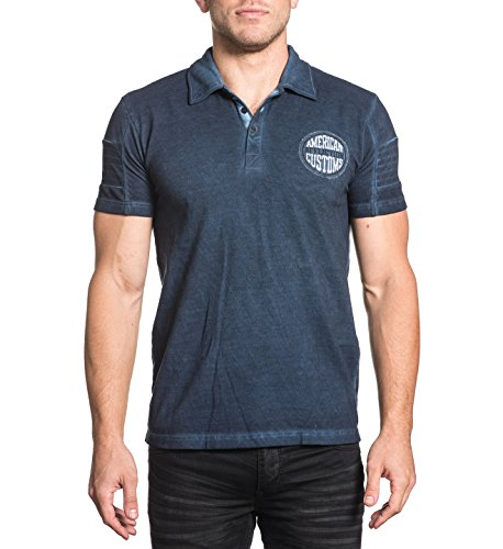 Cotton Shirt Affliction Polo (Affliction AC Crude Polo M)