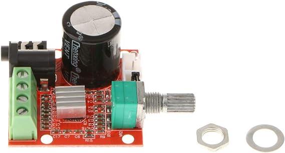 P Prettyia Pam8610 Mini 10 + 10w Amplificador De Potencia De Audio Esté Módulo De Control De Volumen del Módulo