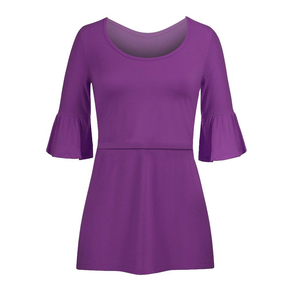 Meedot Women's Nursing Tops Stillen Shirt Pflege Kleidung Kurzarm