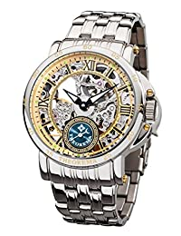 """Theorema - high quality automatic wrist watch Casablanca """"Silver Gold"""", stainless steel with two year warranty - Made in Germany"""