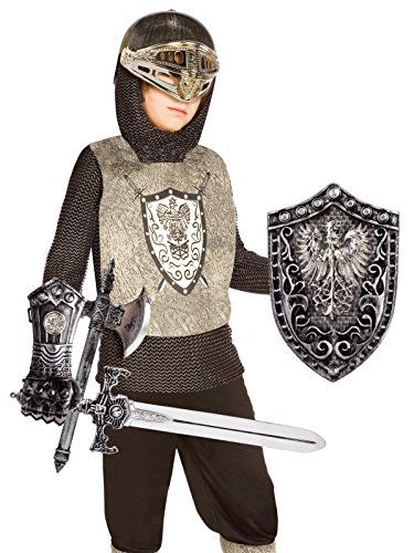 Knight (Silver) Child Costume Kit, One Size (Fits Sizes 4-8), Silver