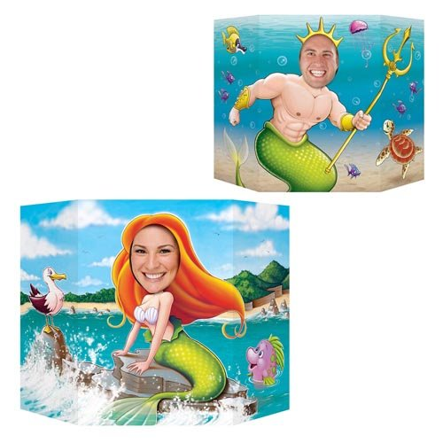 Beistle 54800 Mermaid Photo Prop, 3-Feet 1-Inch by 25-Inch by Beistle