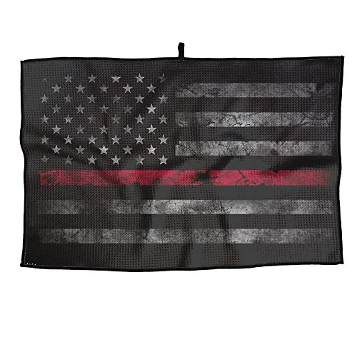 - PIN Red Thin Line American Flag Golf Towel Sports Towel Player Towel 23.6x15 Inches